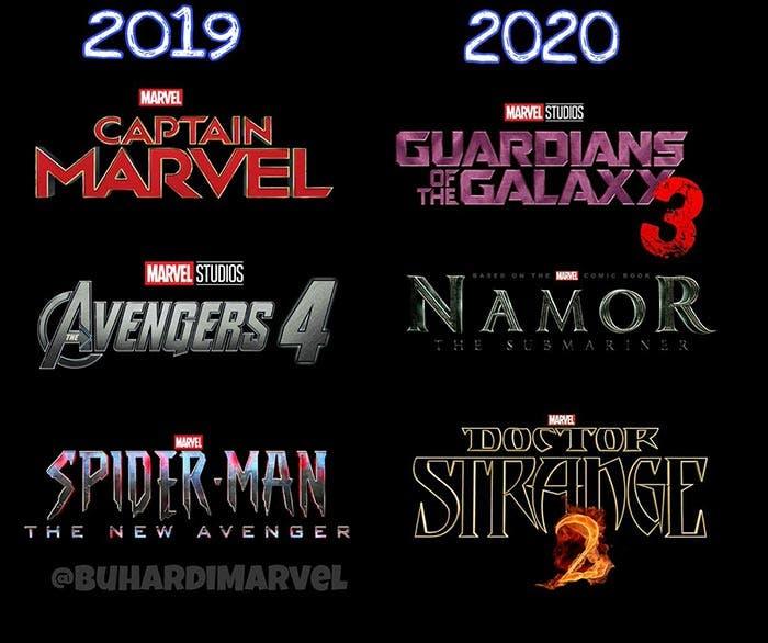 Películas de Marvel entre 2019 y 2020