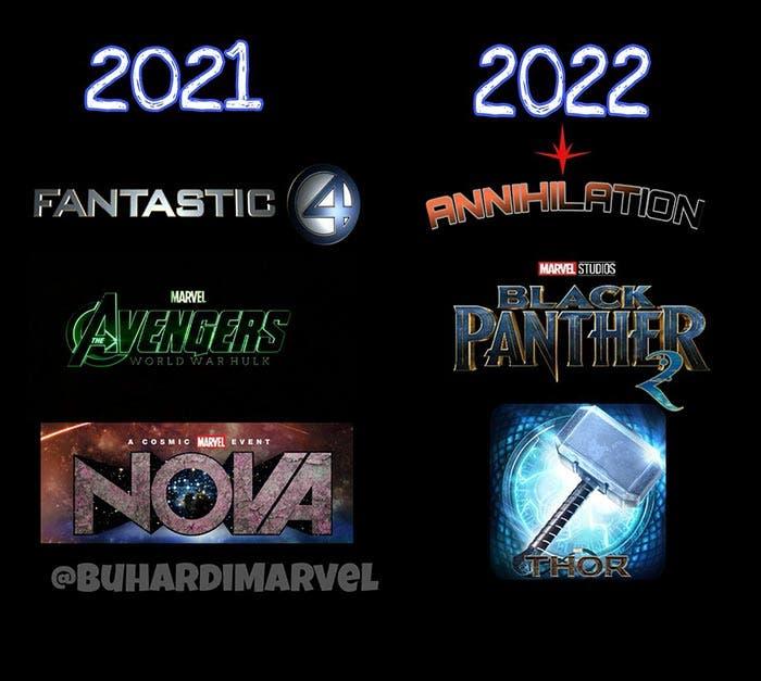 Películas de Marvel entre 2021 y 2022