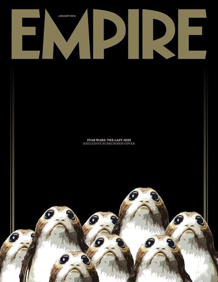 Los Porgs de Star Wars: Los Últimos Jedi (2017) son portada de Empire