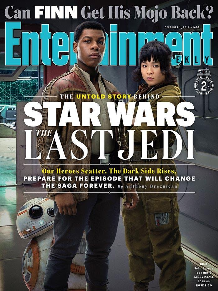 Portada EW de Star Wars: Los Últimos Jedi (2017)