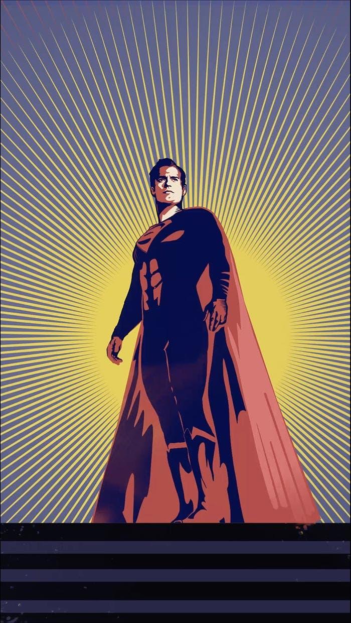 Póster de Superman en la Liga de la Justicia (2017)