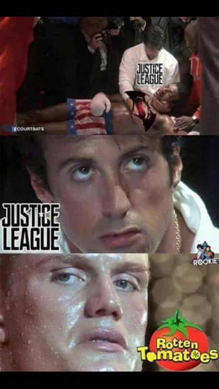 Rotten Tomatoes vs Liga de la Justicia