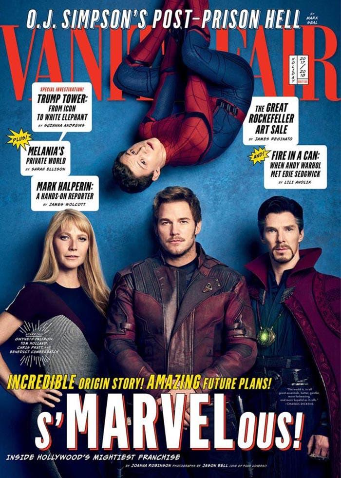 Portada de Vanity Fair con Vengadores: Infinity War (2018)