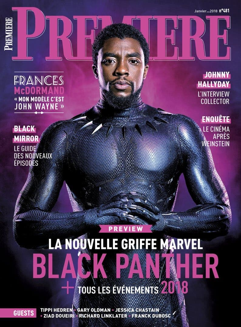 Black Panther Premiere magazine