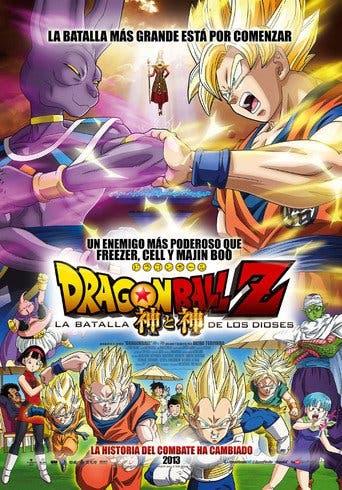 """Poster for the movie """"Dragon Ball Z: La batalla de los dioses"""""""