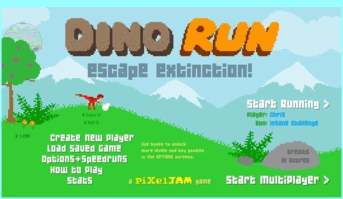 El juego Dino Run