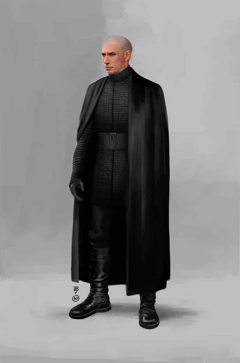 Kylo Ren calvo en Star Wars: Los Últimos Jedi