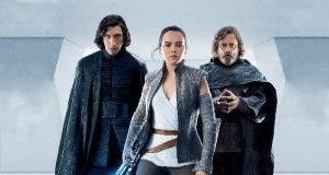 Kylo Ren, Rey y Luke Skywalker en Star Wars the last jedi
