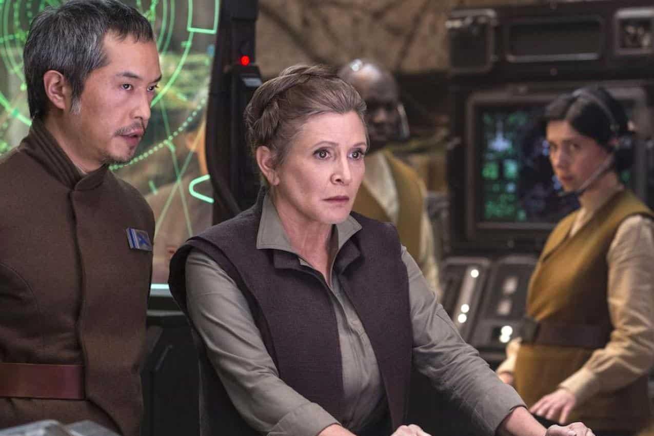 Fotograma de Carrie Fisher como Leia en Los últimos Jedi