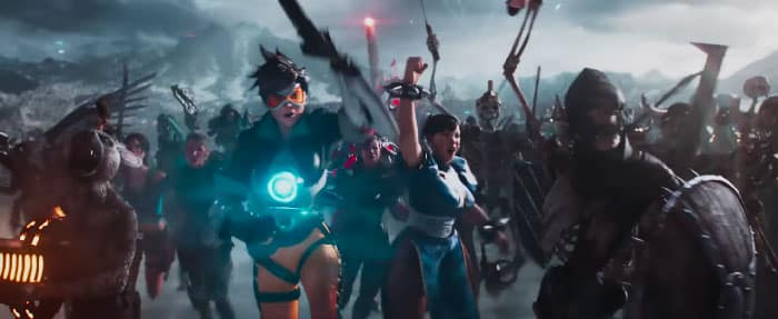 Tracer, personaje de Overwatch, en Ready Player One (Steven Spielberg, 2018)