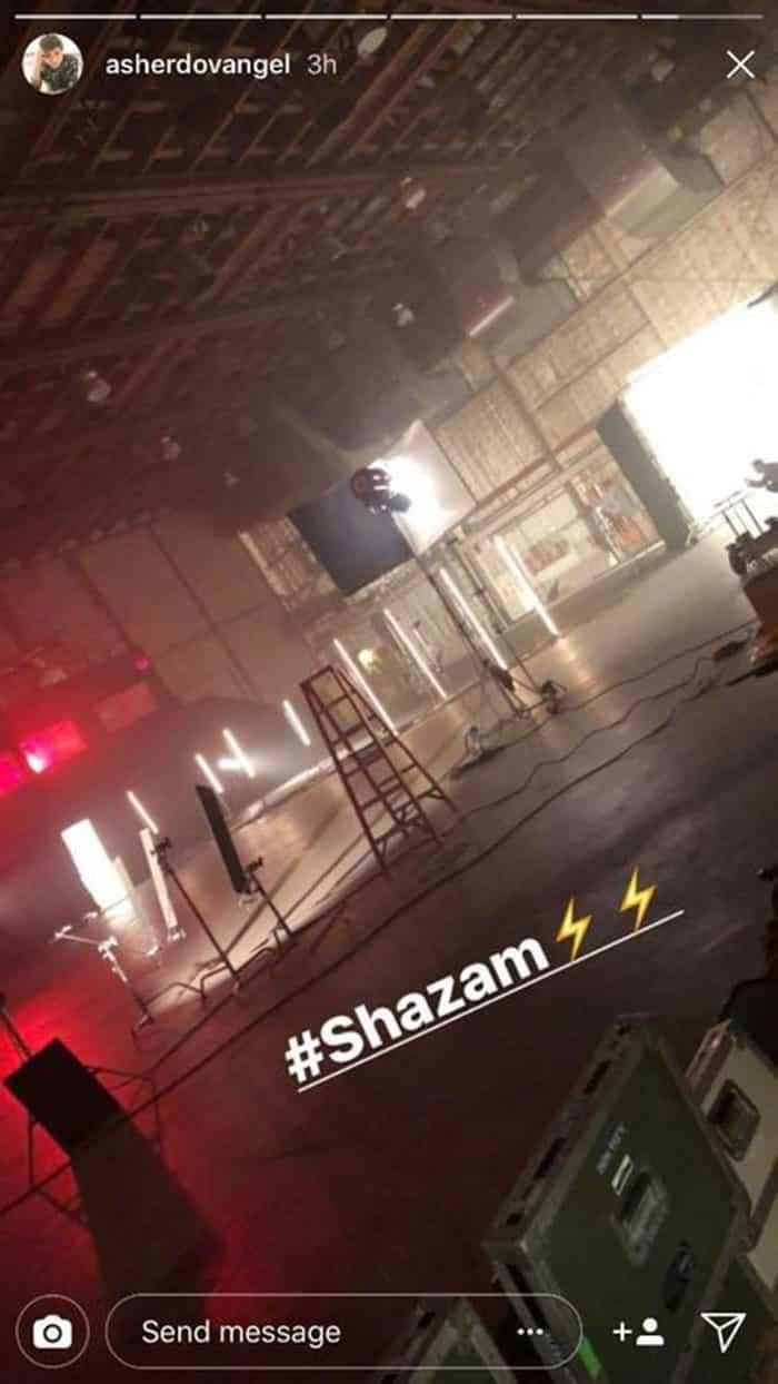 El rodaje de Shazam