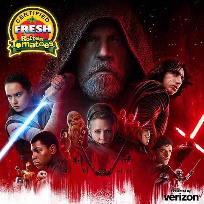 Star Wars: Los Últimos Jedi (2017) en Rotten Tomatoes