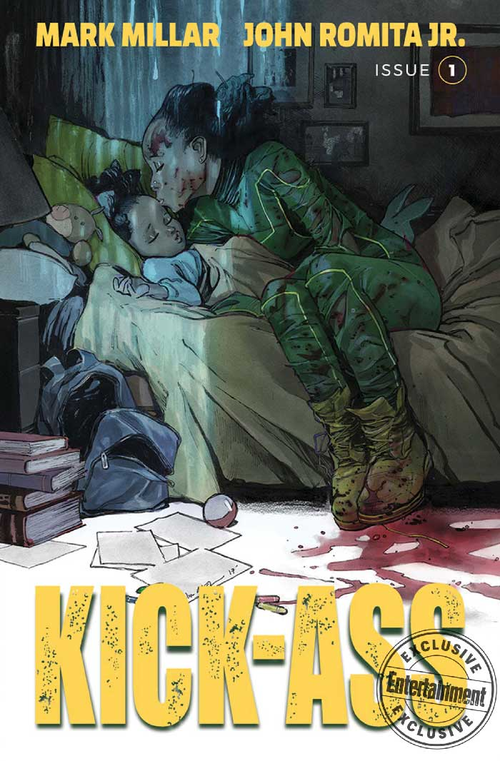 Portada Kick-ass the new girl de Mark Millar y John Romita Jr.