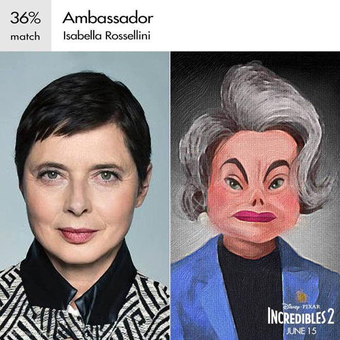 Ambassador en Los Increíbles 2 (Pixar)