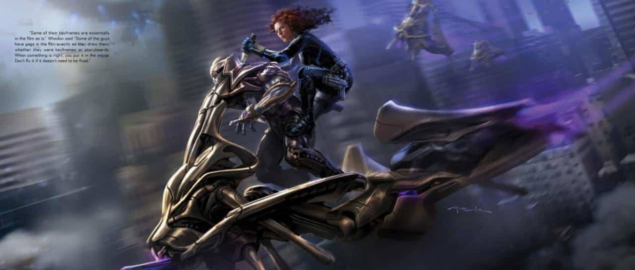 black widow Concept Art Los Vengadores
