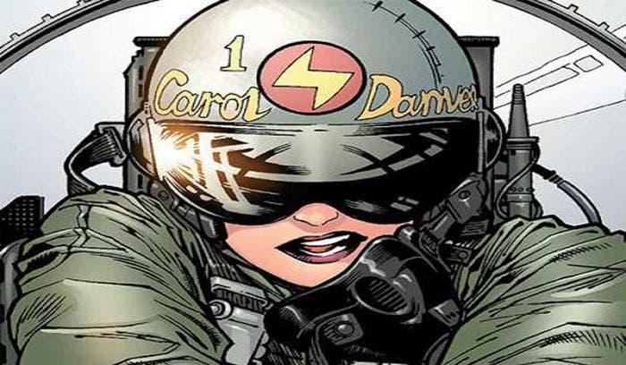 Carol Danvers en los cómics de Capitana Marvel