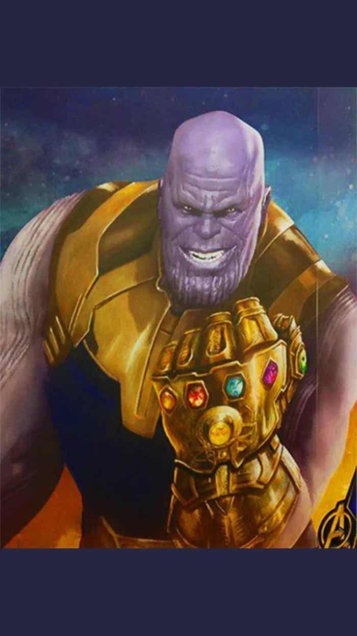 Arte promocional de Thanos en Vengadores 4