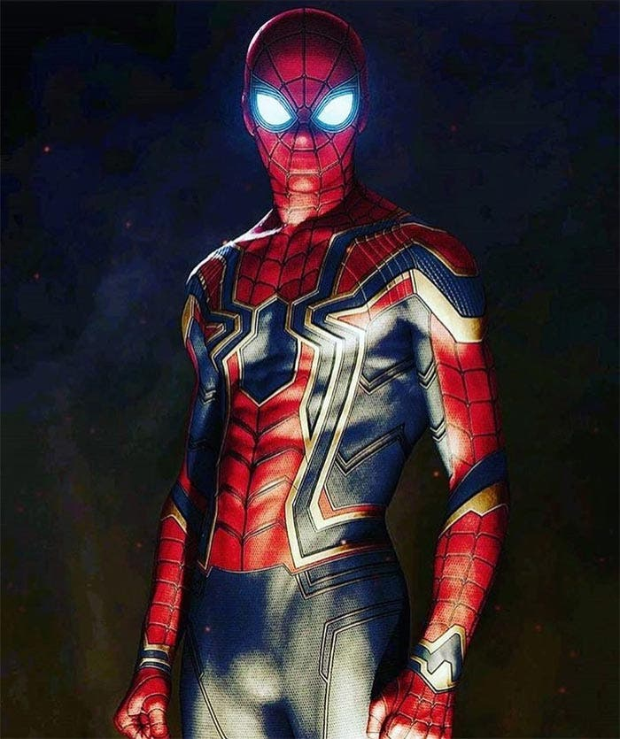 El traje de Spider-Man (Tom Holland) en Vengadores: Infinity War (2018)