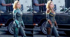 Diferencias en el traje de Capitana Marvel