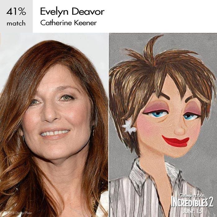 Evelyn en Los Increíbles 2 (Pixar)