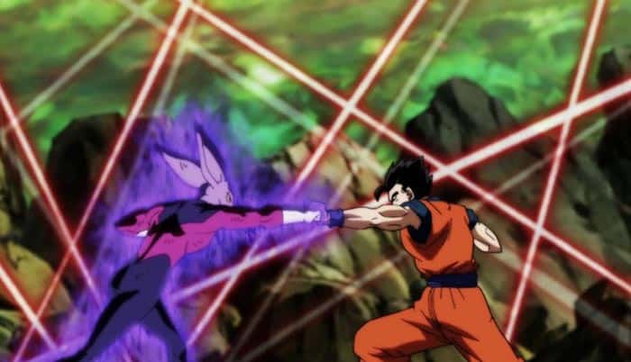 Gohan vs Dyspo en el 124 de Dragon Ball Super