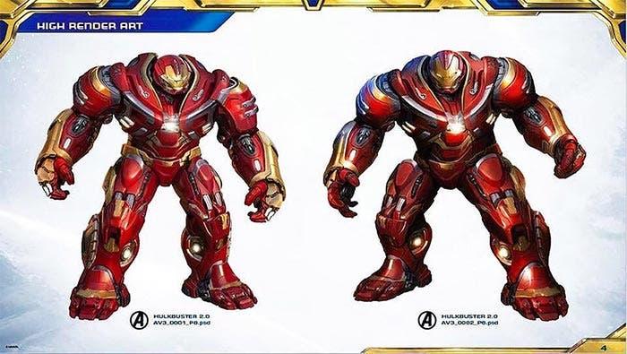 La armadura Hulkbuster de Iron Man en Vengadores: Infinity War