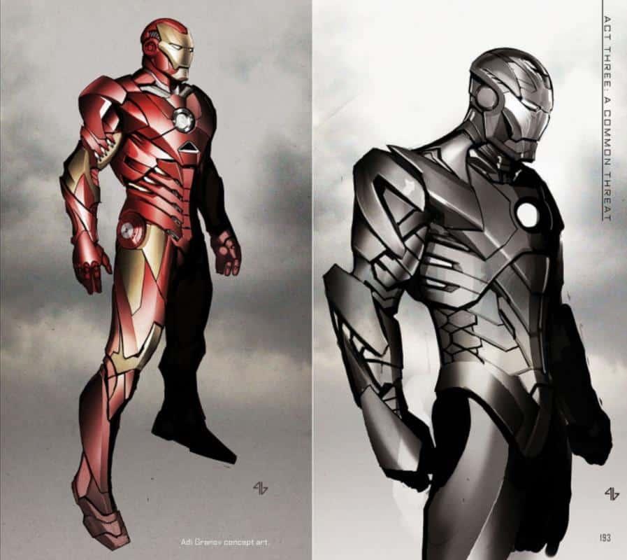 Iron Man Concept Art Los Vengadores