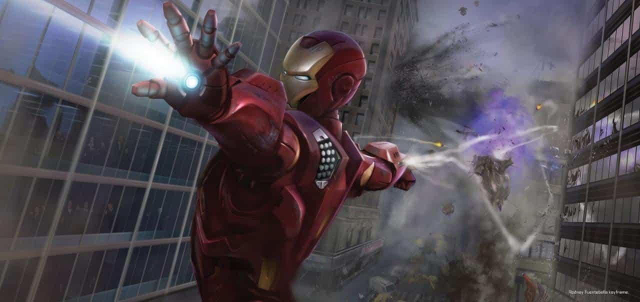 iron man en acción. Concept Art Los Vengadores