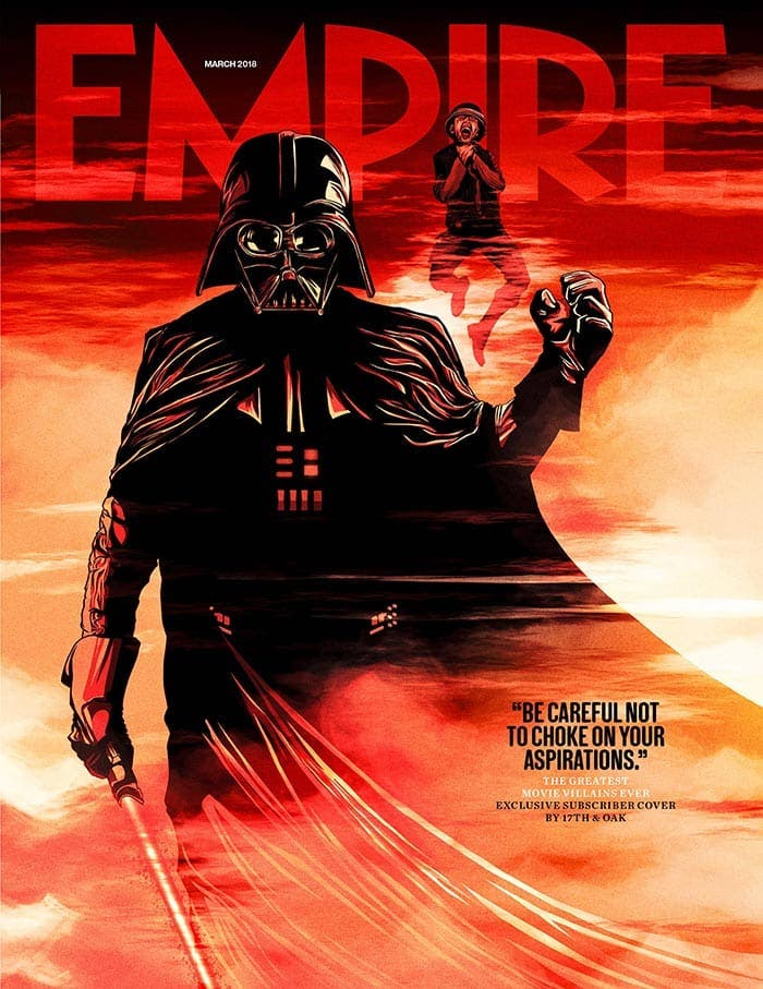 La portada de Empire con Darth Vader (Star Wars)