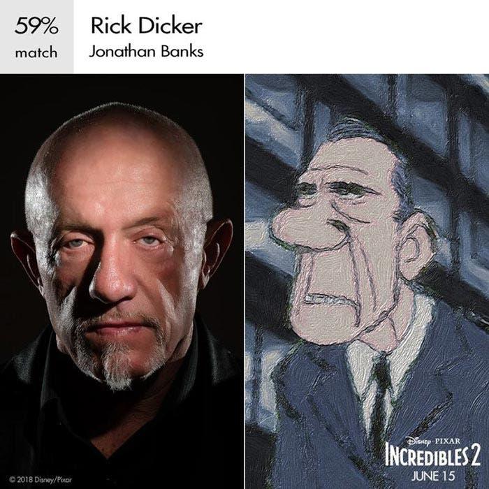 Rick en Los Increíbles 2 (Pixar)
