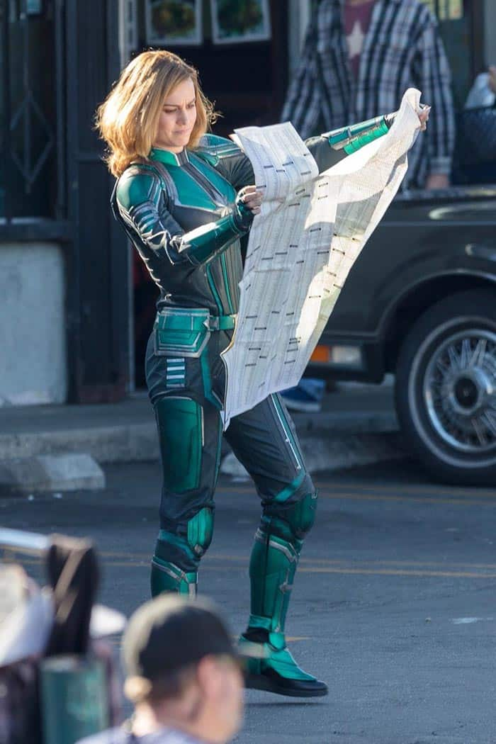 Traje de Brie Larson en Capitana Marvel (2019)