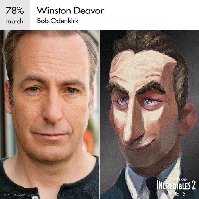 Winston en Los Increíbles 2 (Pixar)