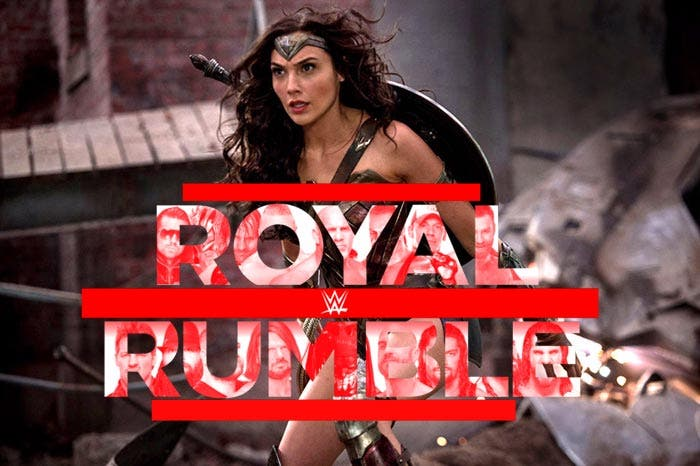 Wonder Woman en el Royal Rumble 2018 (WWE)