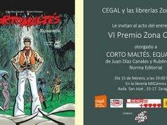 Corto Maltés. Equatoria, de Juan Díaz Canales y Rubén Pellejero, Premio Zona Cómic al mejor cómic nacional de 2017