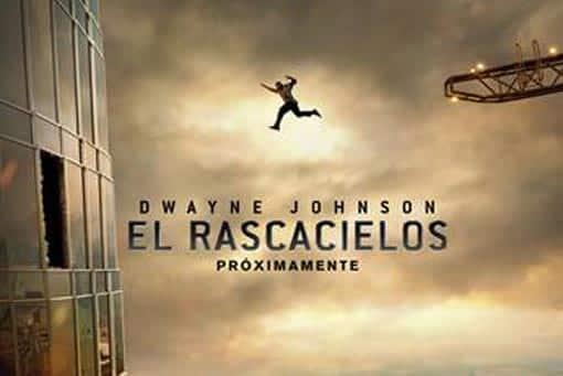 Póster de El rascacielos (Skyscraper) con Dwayne Johnson (The Rock)