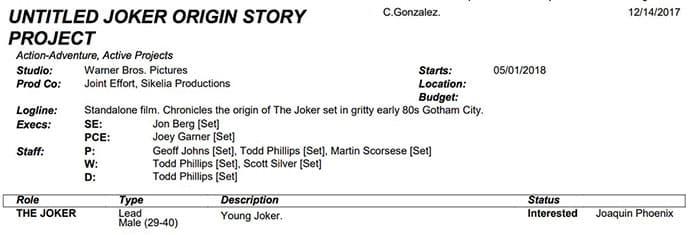 OFICIAL: El rodaje de The Joker ya tiene fecha de inicio