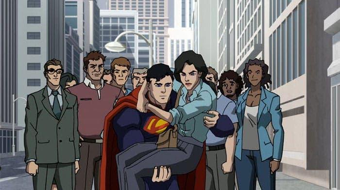 La muerte de Superman (DC Comics) - Animación
