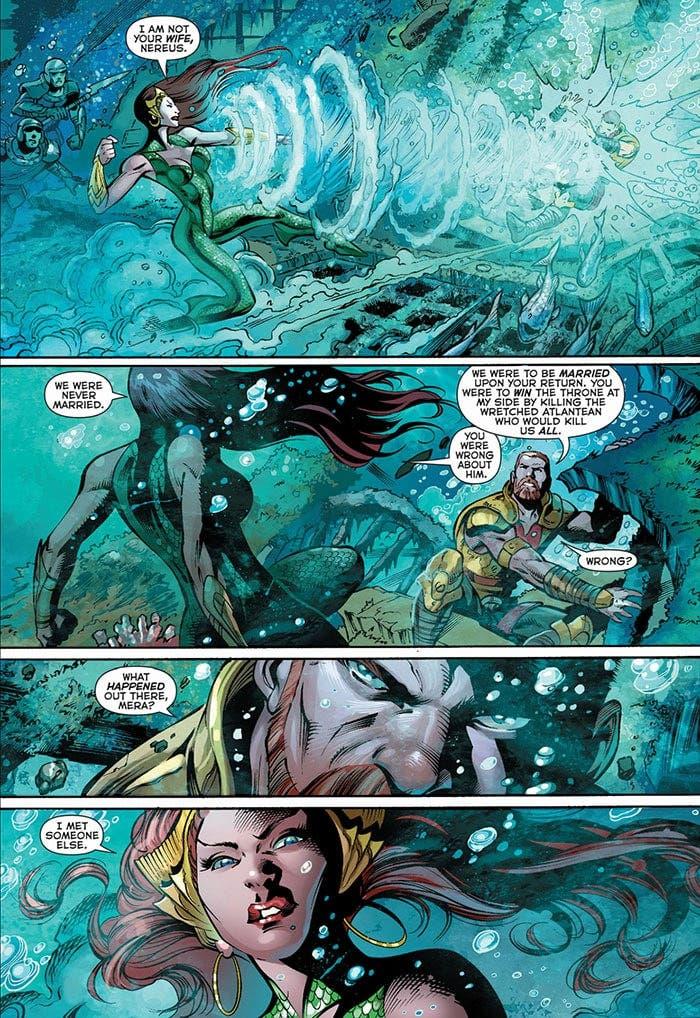Mera y Nereus en Aquaman (DC Comics)