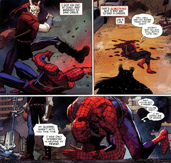 viñeta El asombroso Spider-man: El rastro de la araña