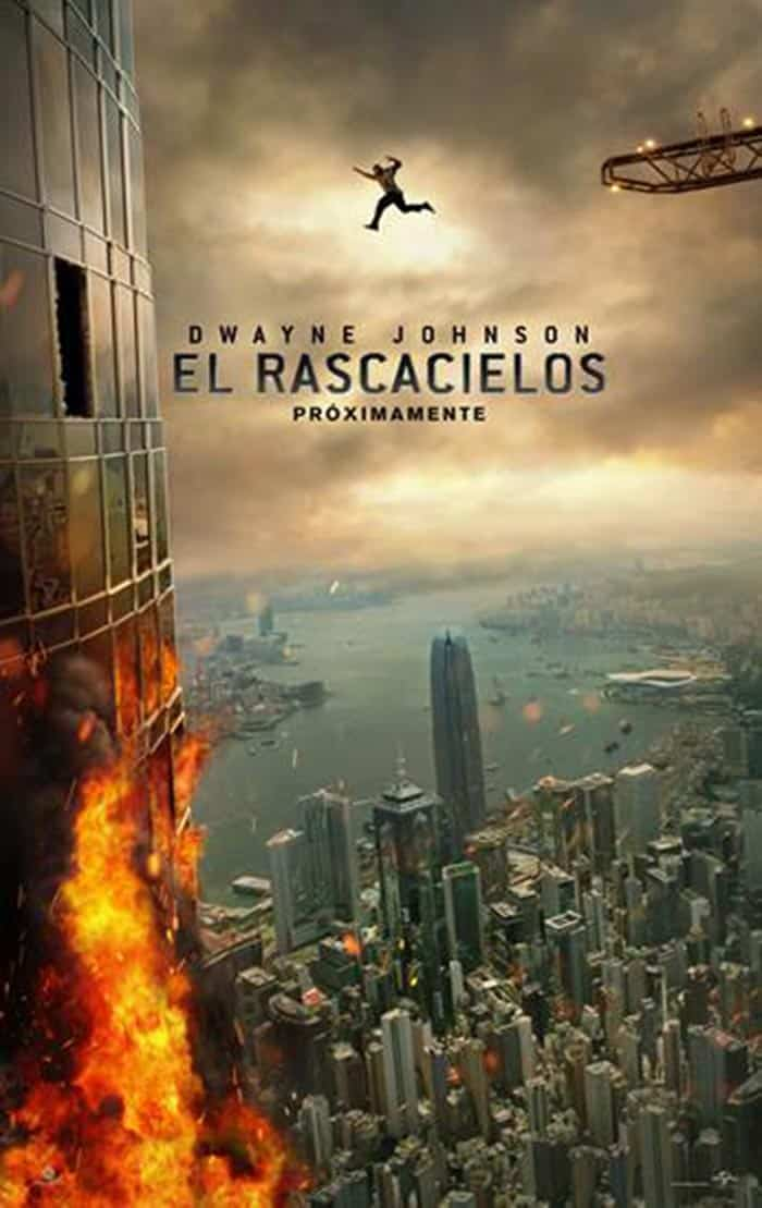 Póster de El rascacielos (Skyscraper) con Dwayne Johnson (The Rock)