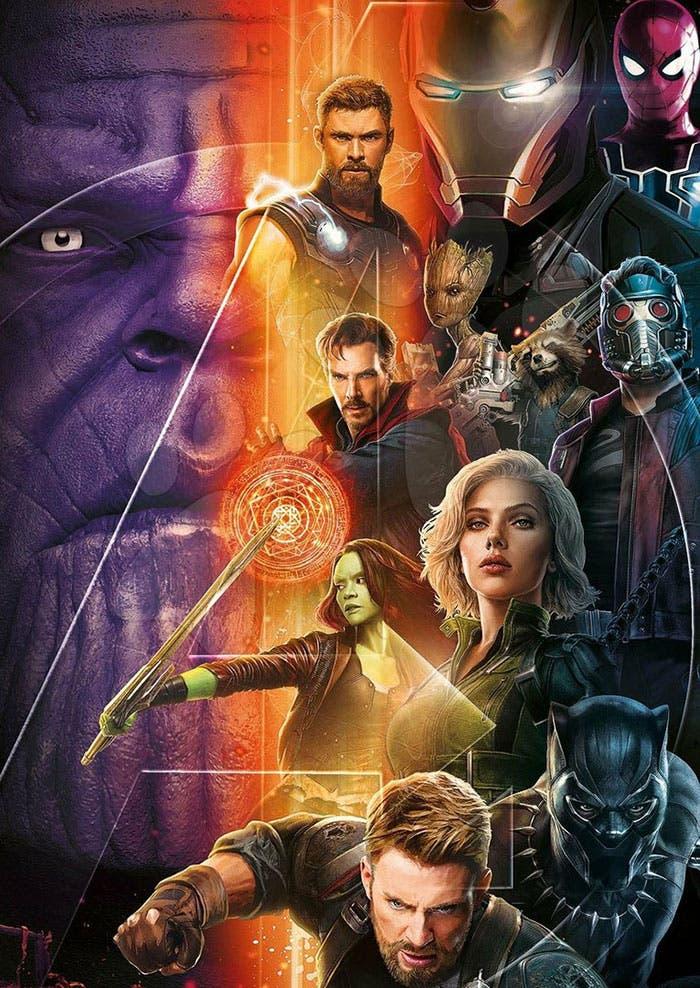 Póster final de Vengadores: Infinity War