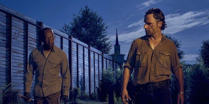 Rick y Morgan en The Walking Dead