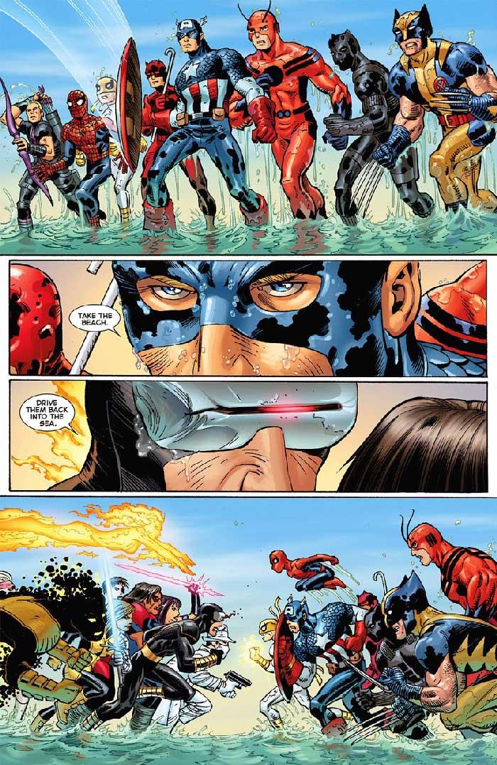 vengadores vs X-men