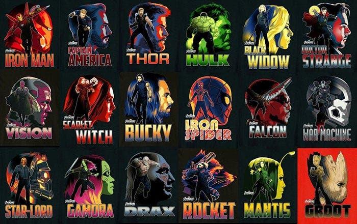 18 Superhéroes De Marvel Al Mismo Tiempo En Vengadores Infinity War