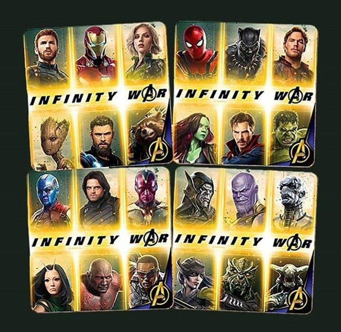 24 personajes en Vengadores: Infinity War
