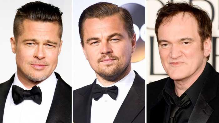 Brad Pitt, Leonardo DiCaprio, Tarantino