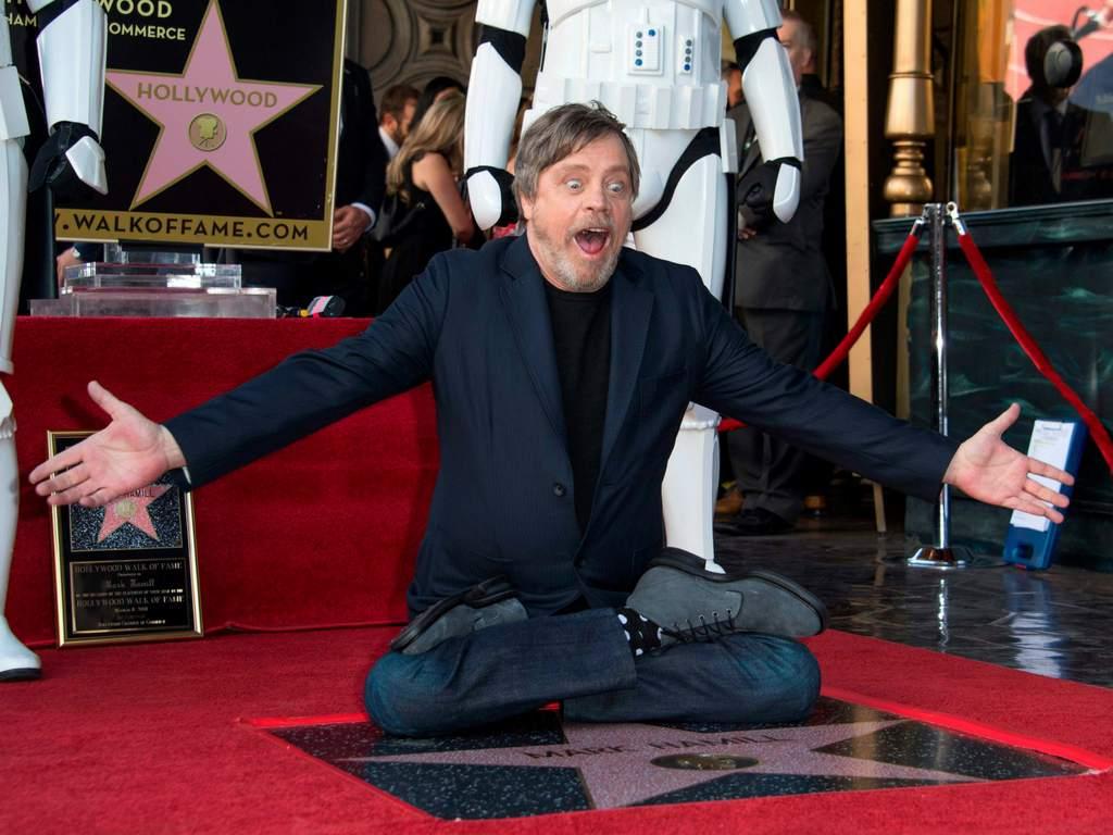 Mark Hamill y su estrella de la fama