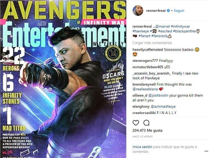 Polémica con Ojo de Halcón en Vengadores: Infinity War