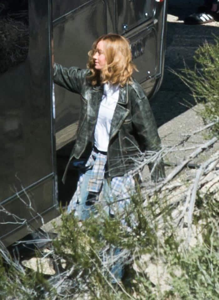 Brie Larson como Carol Danvers en el rodaje de Capitana Marvel (2019)