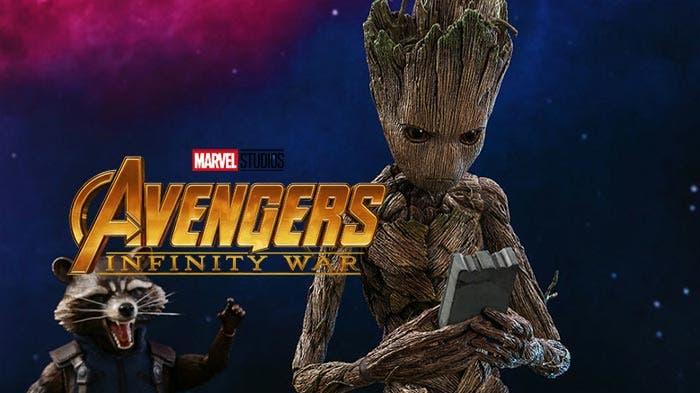 Groot adolescente en Vengadores: Infinity War (2018)